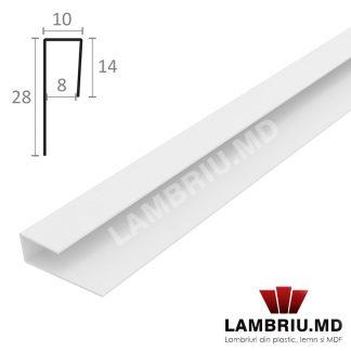 Profil terminatie lambriu PVC alb