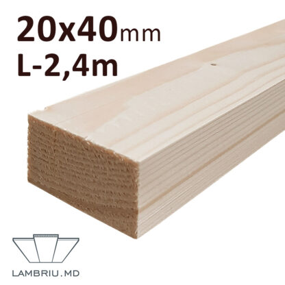 Rigla Lemn 20x40x2400