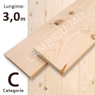 lambriu vagonca din lemn C 3,0 m